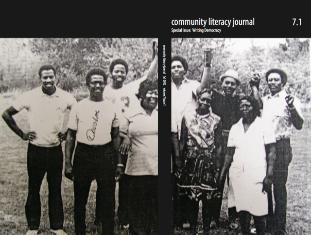 Community Literacy Journal, Special Issue on Writing Democracy